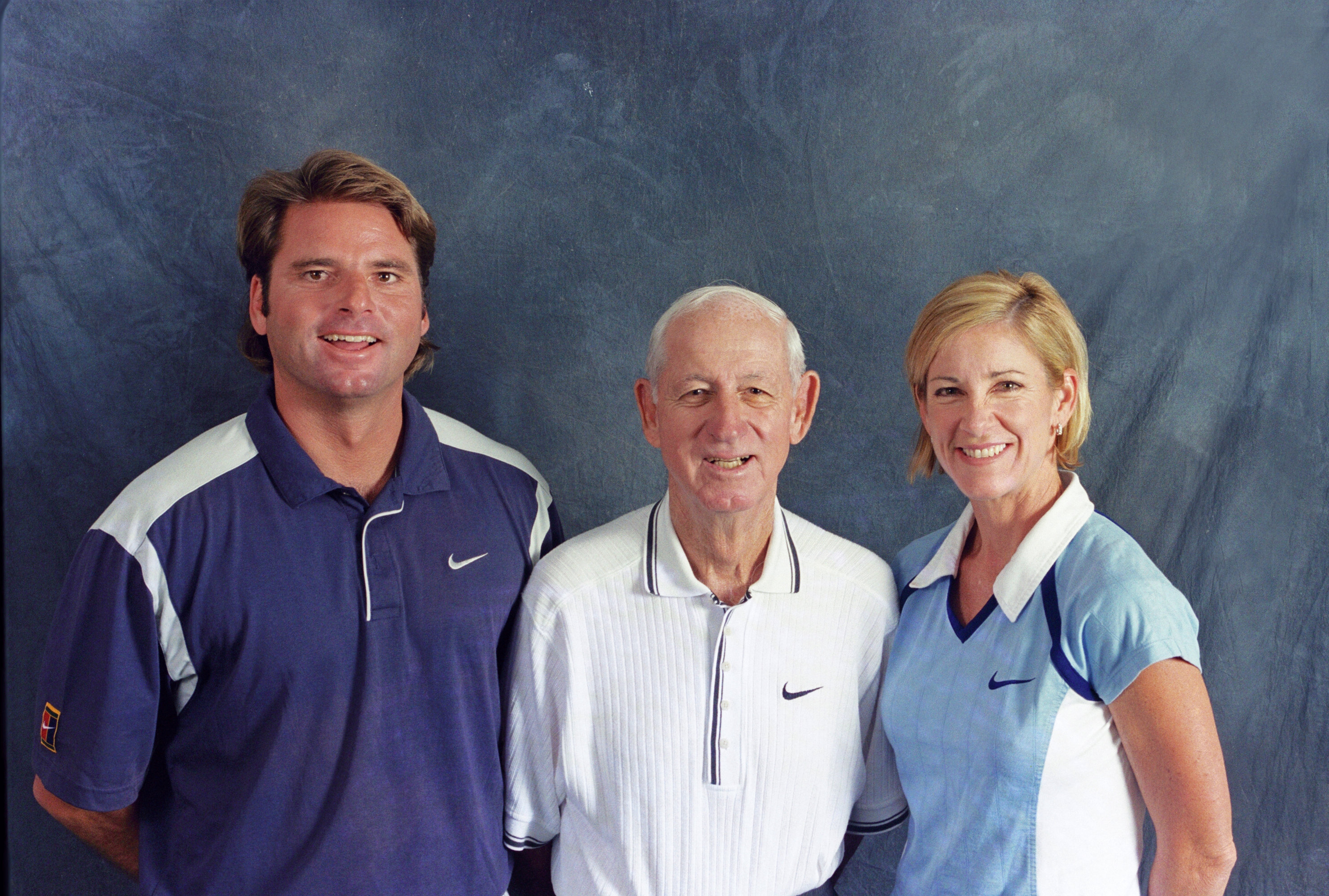 John, Jimmy and Chrissie Evert